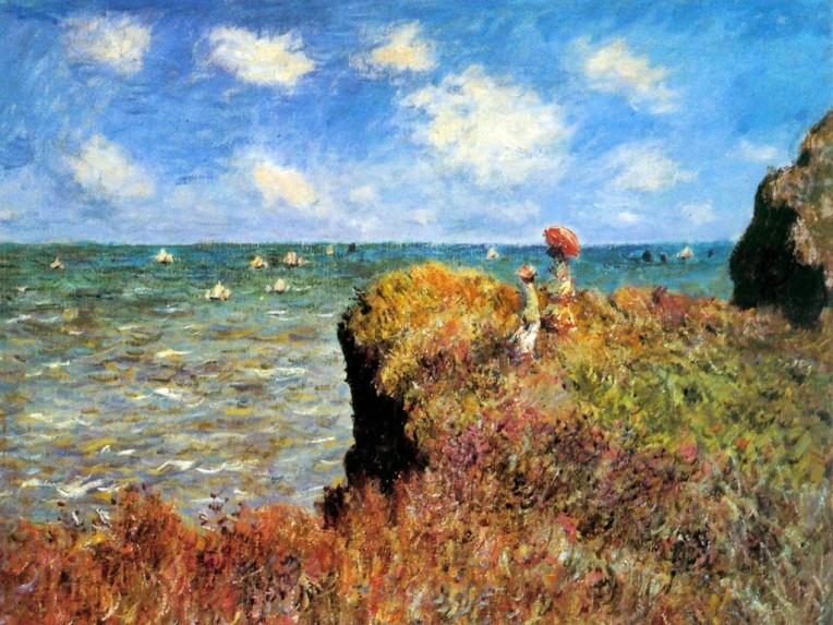 La Promenade Sur La Falaise by Claude Monet